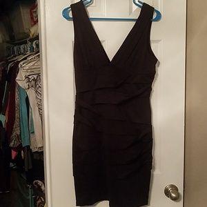 Nikibiki black ruched dress